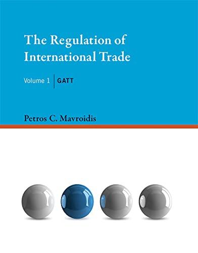 9780262029841: The Regulation of International Trade: GATT (MIT Press) (Volume 1)