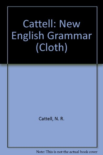 9780262030366: Cattell: New English Grammar (Cloth)