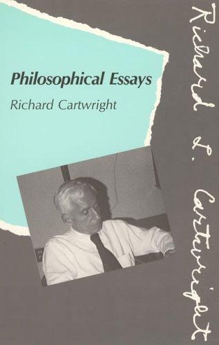 philosophical essays abebooks richard  9780262031301 philosophical essays