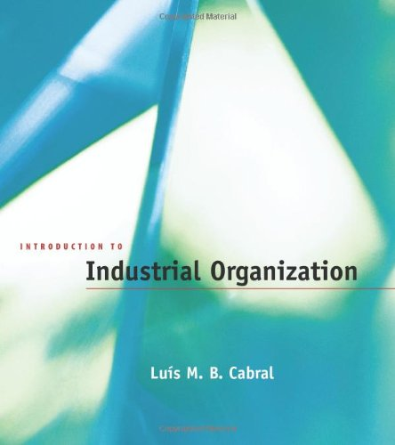 9780262032865: Introduction to Industrial Organization (MIT Press)