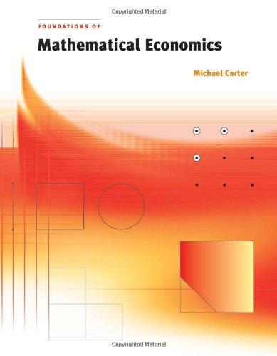 9780262032896: Foundations of Mathematical Economics