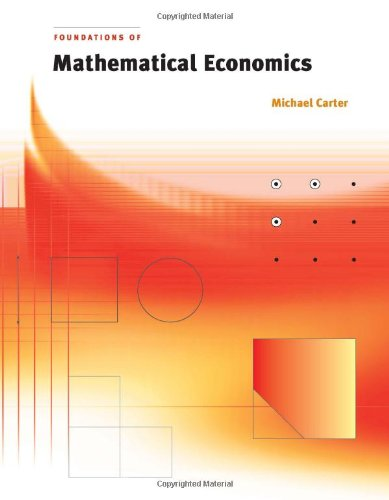 9780262032896: Foundations of Mathematical Economics (MIT Press)