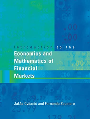 9780262033206: Introduction to the Economics and Mathematics of Financial Markets