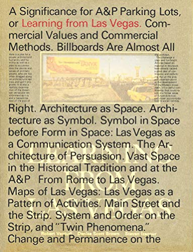 9780262036962: Learning From Las Vegas: Facsimile Edition