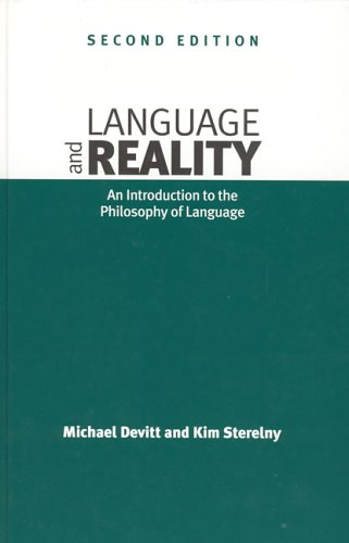9780262041737: Language and Reality - 2nd Edition: An Introduction to the Philosophy of Language