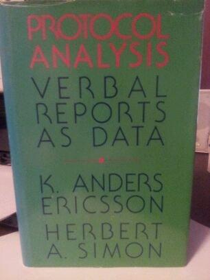 9780262050296: Protocol Analysis: Verbal Reports as Data (Bradford Books)