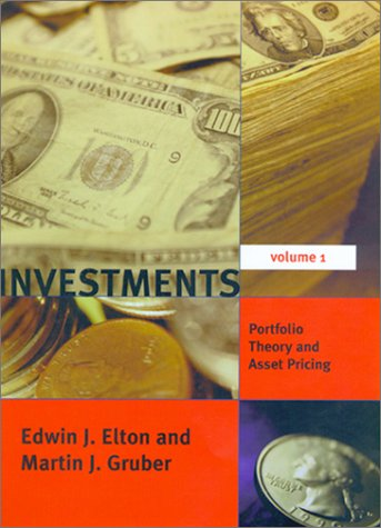 9780262050593: Investments, Vol. 1: Portfolio Theory and Asset Pricing