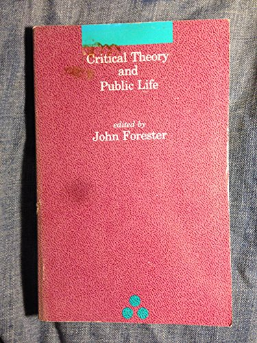 9780262060974: Critical Theory and Public Life (Studies in Contemporary German Social Thought)