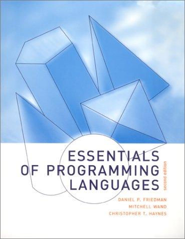 9780262062176: Essentials of Programming Languages