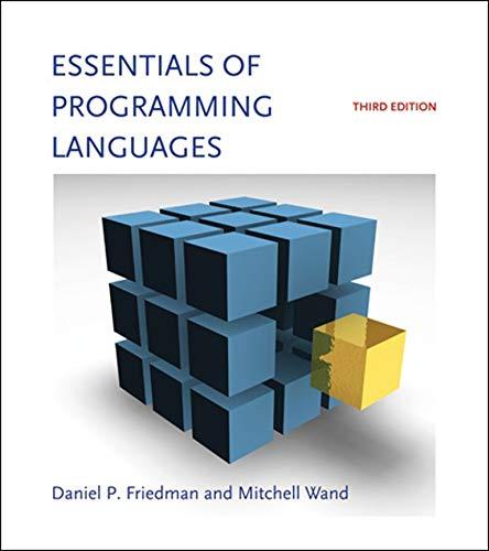 9780262062794: Essentials of Programming Languages (MIT Press)