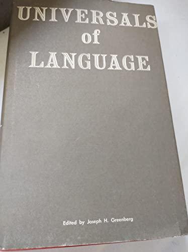 9780262070201: Universals of Language