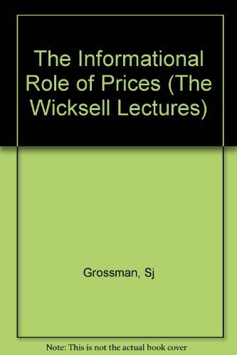 9780262071215: The Informational Role of Prices (Wicksell Lectures)