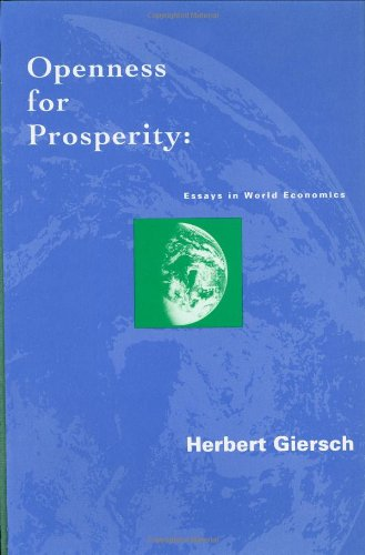 9780262071482: Openness for Prosperity: Essays in World Economics