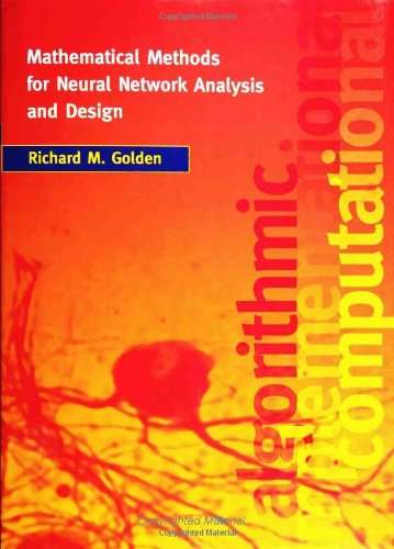 9780262071741: Mathematical Methods for Neural Network Analysis and Design (MIT Press)