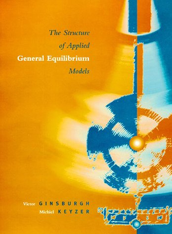 9780262071796: The Structure of Applied General Equilibrium Models