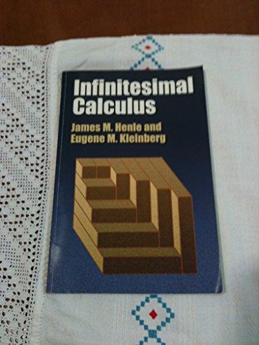 9780262080972: Infinitesimal Calculus