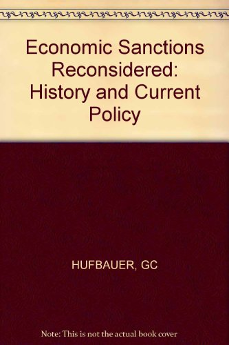 9780262081399: Economic Sanctions Reconsidered: History and Current Policy