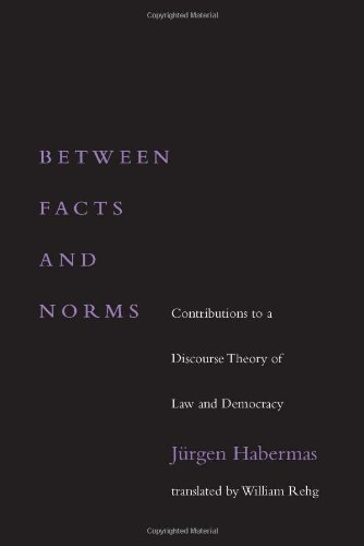 9780262082433: Between Facts and Norms: Contributions to a Discourse Theory of Law and Democracy (Studies in Contemporary German Social Thought)