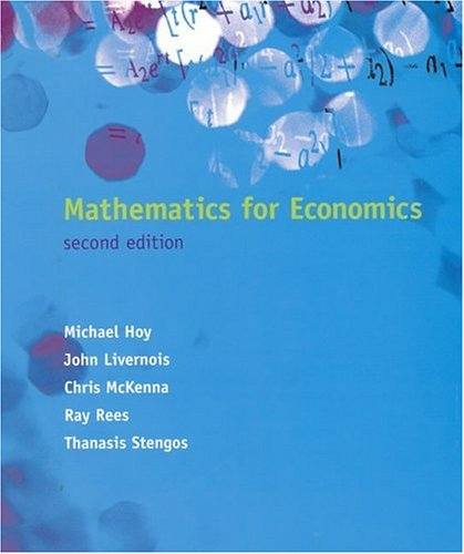 9780262082945: Mathematics for Economics - 2nd Edition