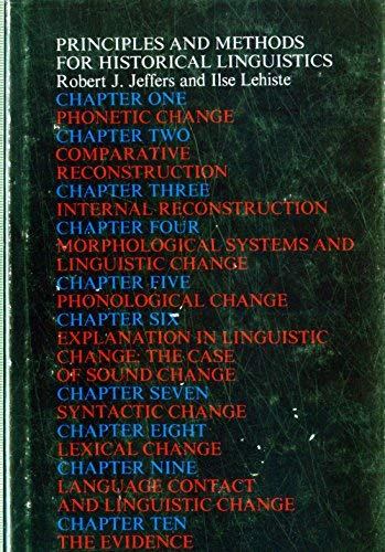 9780262100205: Principles and Methods for Historical Linguistics