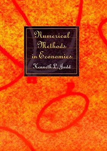9780262100717: Numerical Methods in Economics (MIT Press)