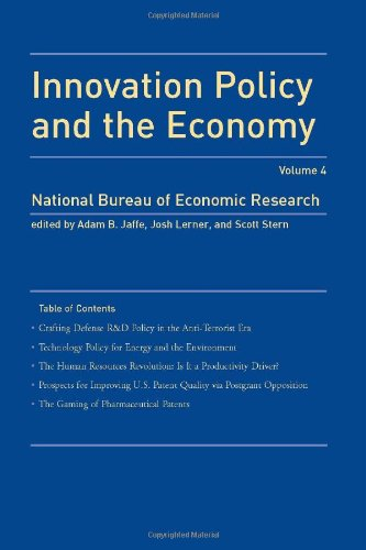 9780262101042: Innovation Policy and the Economy, Volume 4 (NBER Innovation Policy and the Economy)