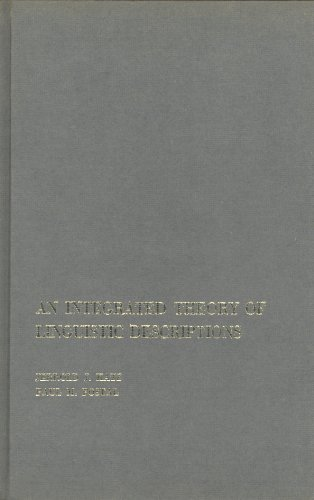 9780262110112: Integrated Theory of Linguistic Descriptions (Research Monograph)