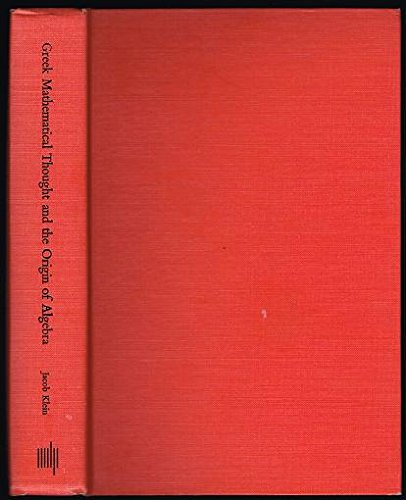 9780262110259: Greek Mathematical Thought and the Origin of Algebra