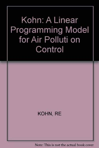 9780262110624: A Linear Programming Model for Air Pollution Control