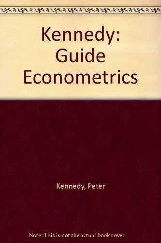 9780262110730: Kennedy: Guide Econometrics
