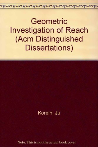 9780262111041: Geometric Investigation of Reach (ACM Distinguished Dissertation)
