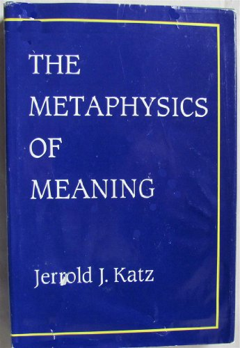 9780262111515: The Metaphysics of Meaning (Representation and Mind)