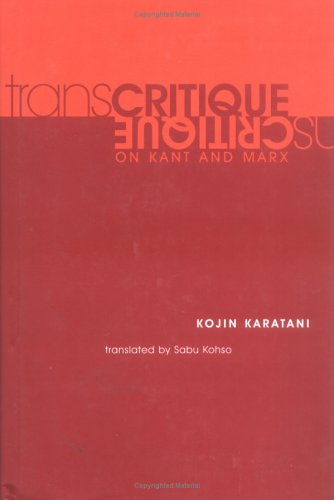 9780262112741: Transcritique: On Kant and Marx