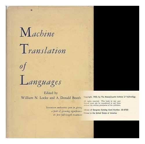 9780262120029: Machine Translation
