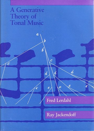 9780262120944: Generative Theory of Tonal Music