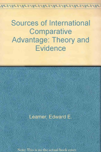 9780262121071: Sources of International Comparative Advantage: Theory and Evidence