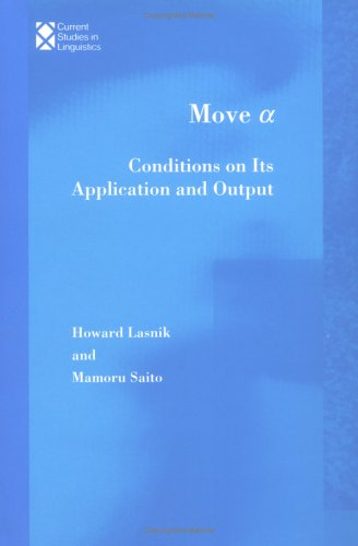 Move a: Conditions on Its Application and: Howard Lasnik, Mamoru
