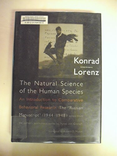 9780262121903: The Natural Science of the Human Species: An Introduction to Comparative Behavioral Research: The