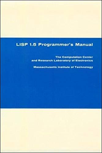9780262130110: LISP 1.5 Programmer's Manual