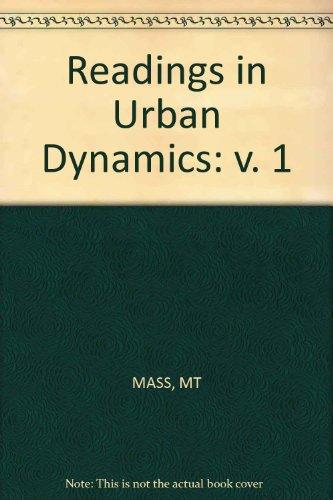9780262131407: Readings in Urban Dynamics: v. 1