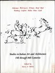 9780262131568: Studies in Italian Art and Architecture, 15th Through 18th Centuries (Memoirs of the American Academy in Rome)