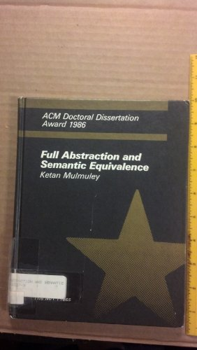 9780262132275: Full Abstraction and Semantic Equivalence (ACM Doctoral Dissertation Award)