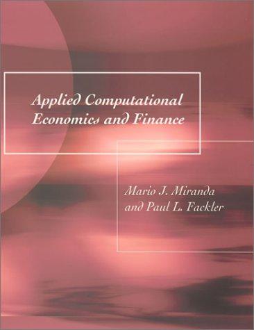 9780262134200: Applied Computational Economics and Finance
