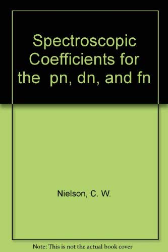 9780262140010: Spectroscopic Coefficients for the pn, dn, and fn Configurations