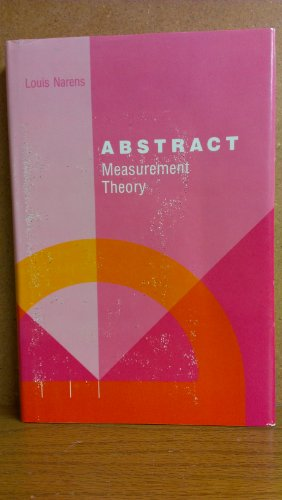 9780262140379: Abstract Measurement Theory