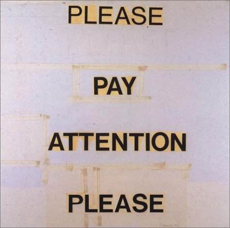 9780262140829: Please Pay Attention Please: Bruce Nauman's Words : Writings and Interviews