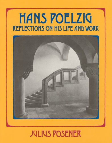 9780262161275: Hans Poelzig: Reflections on His Life and Work