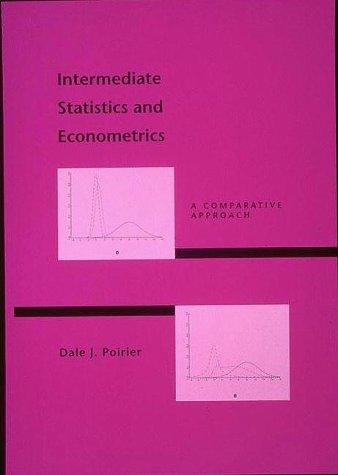 9780262161497: Intermediate Statistics and Econometrics: A Comparative Approach