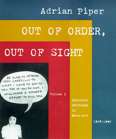 9780262161558: Out of Order, Out of Sight, Vol. I: Selected Writings in Meta-Art 1968-1992