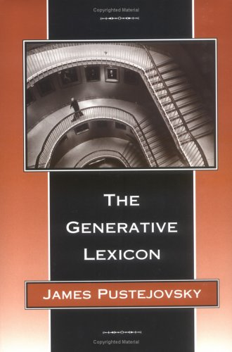 9780262161589: The Generative Lexicon (Language, Speech, and Communication)
